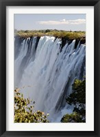 Framed Victoria Waterfalls, Zambesi River, Zambia.