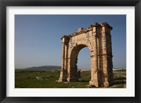Framed Tunisia, Dougga, Roman-era arch on Route P5