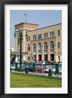 Framed Train Station of Mahattat Ramses, Cairo, Egypt, North Africa