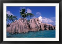 Framed Tropical Shoreline of St Pierre Islet, Seychelles