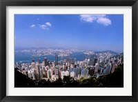 Framed View of City from Victoria Peak, Hong Kong, China