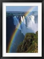 Framed Waterfalls, Victoria Falls, Zimbabwe, Africa