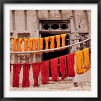 Framed Wool drying textile, Ghazni, Afghanistan