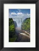 Framed Victoria Falls and Zambezi River, Zimbabwe