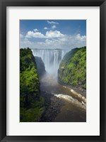 Framed Victoria Falls and Zambezi River, Zimbabwe