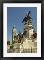 Framed Washington Monument Richmond Virginia