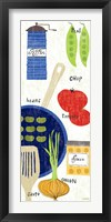 Cooking It Framed Print