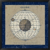 Framed Globe Blue