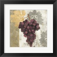 Framed Acanthus and Paisley With Grapes  I