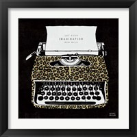 Framed Analog Jungle Typewriter