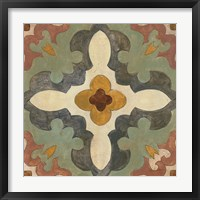 Framed Andalucia Tiles B Color
