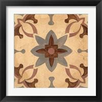 Framed Andalucia Tiles D Color