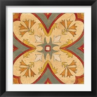Framed Andalucia Tiles H Color