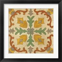 Framed Andalucia Tiles I Color