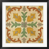 Framed Andalucia Tiles I Color
