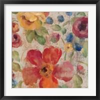 April Rain Flowers II Framed Print