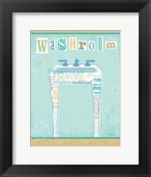 Framed Bathroom Words Sink II