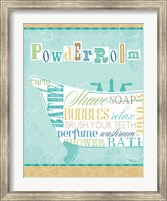 Framed Bathroom Words Tub I