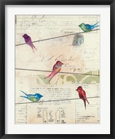 Framed Birds on a Wire no Border