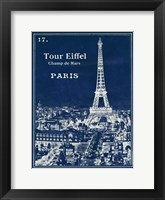 Framed Blueprint Eiffel Tower