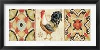 Bohemian Rooster Panel I Framed Print