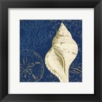 Framed Coastal Moonlight IV Teal