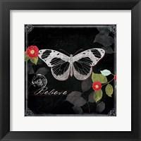 Chalkboard Wings II Framed Print