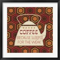 Caffeine III Framed Print