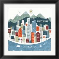 Framed Colorful Los Angeles