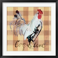 Coq Blanc Framed Print