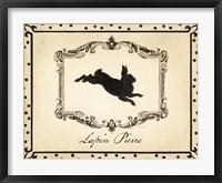 Framed Cartouche Lapin I