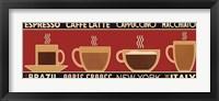 Framed Deco Coffee Panel I