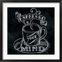 Framed Espresso Your Mind  No Border Square