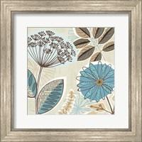 Framed Funky Flowers IV