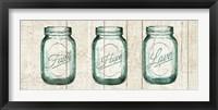 Framed Flea Market Mason Jars Panel I v.2