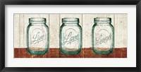 Framed Flea Market Mason Jars Panel II Table