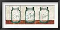 Flea Market Mason Jars Panel II Table Framed Print