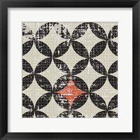 Framed Geometric Patchwork Puree Pumpkin Square IV