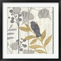 Garden Leaves Square VI Framed Print