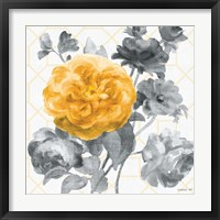 Framed Geometric Watercolor Floral II