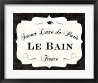 Framed Le Bain Luxe II