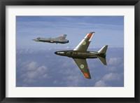 Framed Saab J 32 Lansen and Saab 35 Draken fighters of the Swedish Air Force Historic Flight