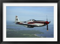 Framed North American P-51 Cavalier Mustang