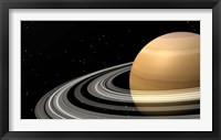 Framed Close-up of Saturn and its planetary rings