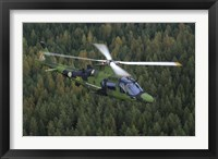 Framed AgustaWestland A109 helicopter of the Swedish Air Force