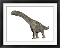 Framed Argentinosaurus dinosaur, white background
