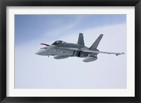 Framed Side View of F/A-18 Hornet of the Finnish Air Force