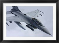 Framed Close View of F-16 Fighting Falcon of the Norwegian Air Force