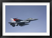Framed F-16 Fighting Falcon of the Norwegian Air Force