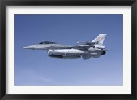 Framed F-16 Fighting Falcon of the Polish Air Force